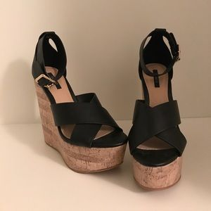 Shoes - Forever 21 Black Wedges