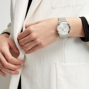 Silver DKNY Parsons watch