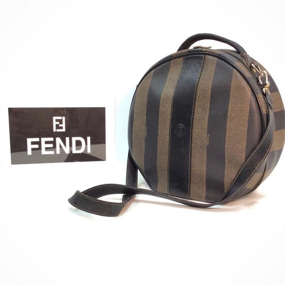 6792c4d2e06b Vintage Authentic FENDI Zucca Striped Crossbody