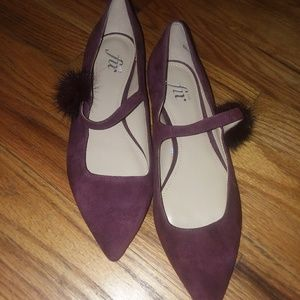 A burgundy shoes