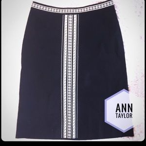 Black & White Ann Taylor Skirt