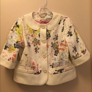 Ted Baler London Size 3 Floral Jacket