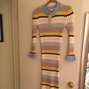 Endless Ross Striped Midi Sweater Dress