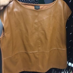Petite leather shirt