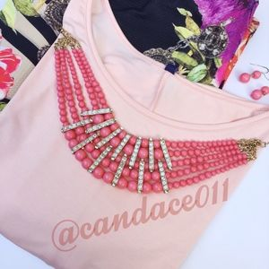 ⭐️SALE!⭐️ Coral Necklace/Earring Set