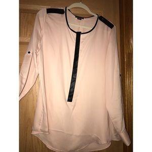 Pink long sleeve blouse