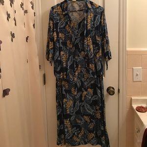 Teddi M brown/blue 2pc dress
