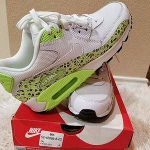 Nike Women's Air Max 90 Premium White Ghost Green Boutique