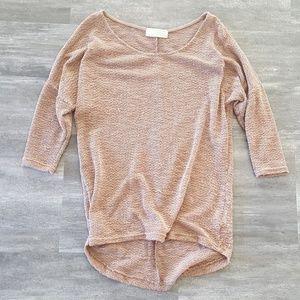 Light Chocolate Thin Sweater 3/4 Sleeve