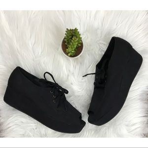 ASOS Black Platform Lace Up Sneakers