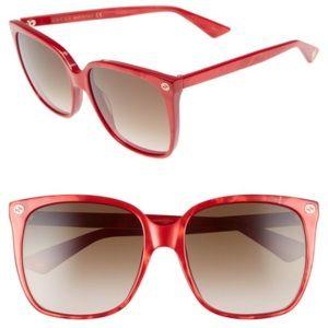 Gucci 57 Square Sunglasses