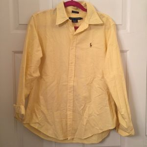 Yellow classic fit Ralph Lauren oxford