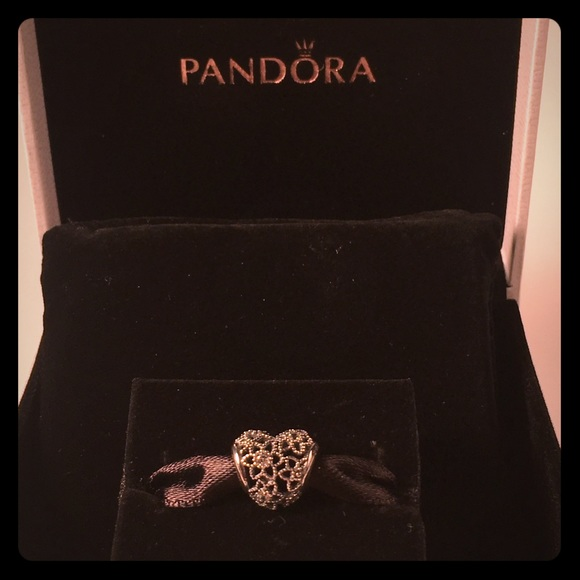 6975cbe64 Pandora Jewelry | Blooming Heart Charm Clear Cz Item 796264cz | Poshmark
