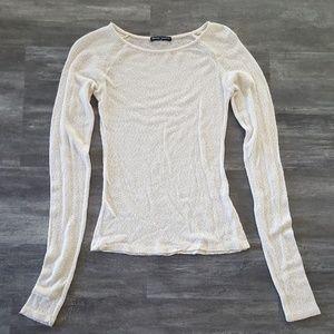Cream Basic Melville Sweater Long Sleeve