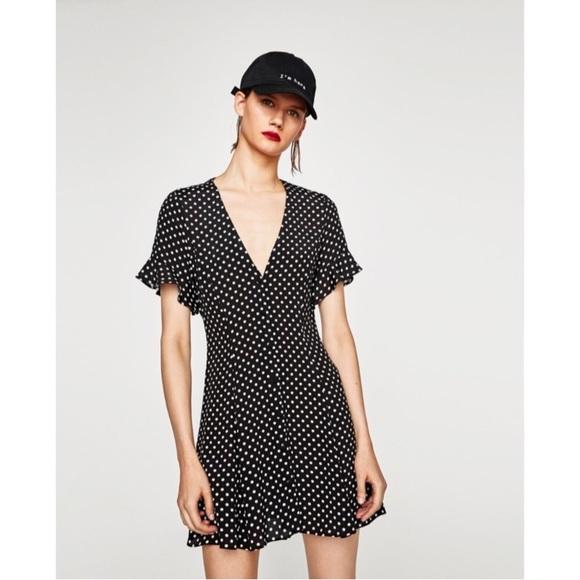 779701bcb735f Zara polka dot mini dress. M 59d2fe7d6d64bc70bc0265a8