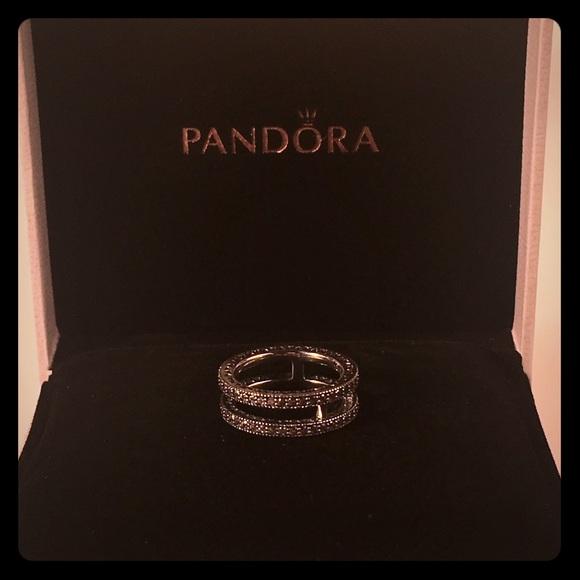 e4de8c403 ... where can i buy double hearts of pandora ring clear cz 196236cz 32729  cf10d