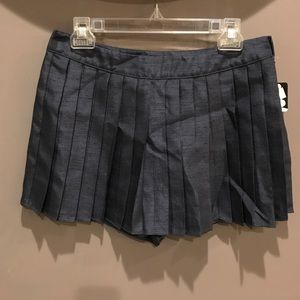 Silence + Noise Pleated Navy Skort
