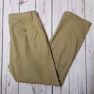 Nautica Mens Tailored Fit Beacon Pants in Khaki