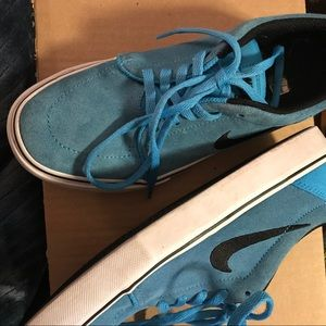 Nike sb blue and black suede Sneaker