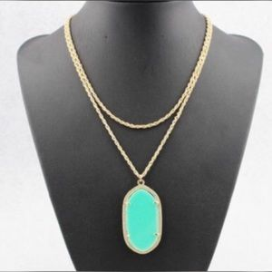 Jewelry - Oval Pendant In A Long Necklace