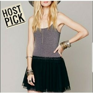 Free People Dresses - 🔥HP!!*Free People Tulle/Lace Mini Dress*🔥