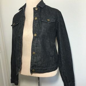 BCBGMaxAzria SZ SM Dark Denim Jean Jacket