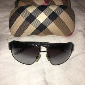 Mens Burberry Rectangle aviator sunglasses grayish
