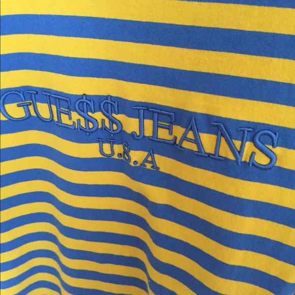 0d22af397012 Guess Shirts | X Aap Striped Tee Tshirt Blueyellow | Poshmark