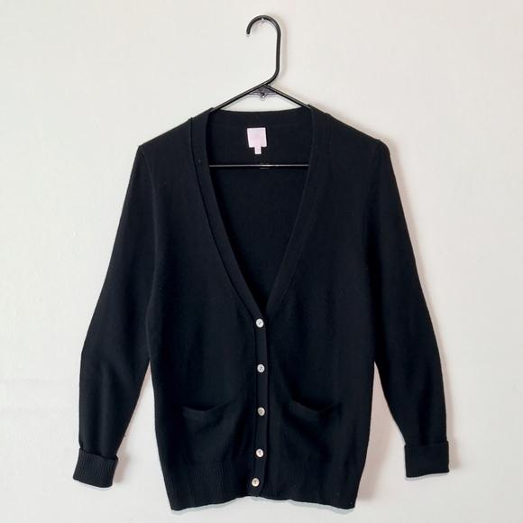 68% off Ann Mashburn Sweaters - ANN MASHBURN Luxe Black V-Neck ...