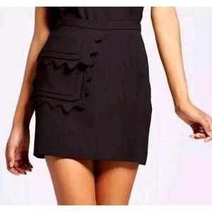 New Victoria Beckham for Target Black Twill Skirt