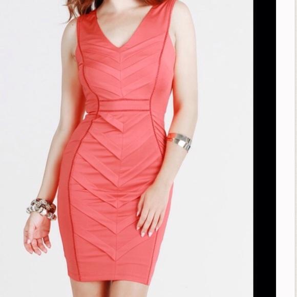 6f0e56fc040a Nikibiki Dresses | Coral Pintucked Arrow Dress | Poshmark