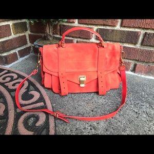 Proenza Schouler PS1 Suede Red Bag Medium