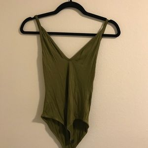 boohoo army green body suit