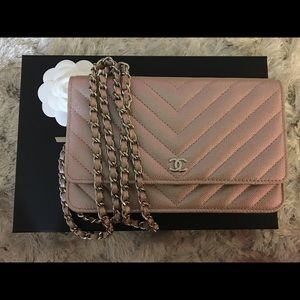 1d516276acd9 CHANEL Bags | Sold Wallet On Chain Woc Light Gold | Poshmark