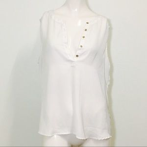 212 Collection White Gold Button Blouse!