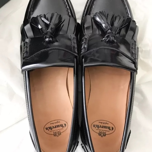 468a3d675 Church's Omega Glossed Leather Loafers. Church's.  M_59d33ac07f0a05253b02fd7b. M_59d33ac3d14d7b84420308a1.  M_59d33ac64e95a34ac0030be2
