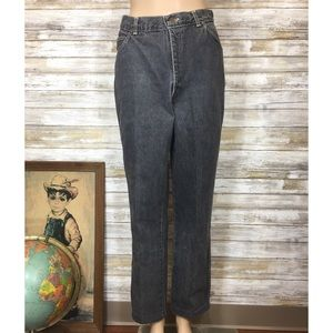 Vintage 80's Chic black high waisted jeans