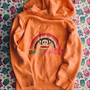 Paul Frank Orange Sock Monkey Hoodie