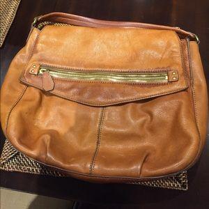 Jcrew Caramel Leather Bag