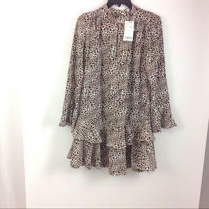 MNG Suit Women's Animal Print Dress Bell Sleeves