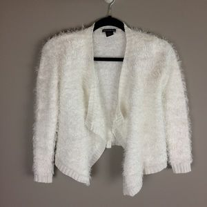 Blush & Bloom fuzzy open front cardigan