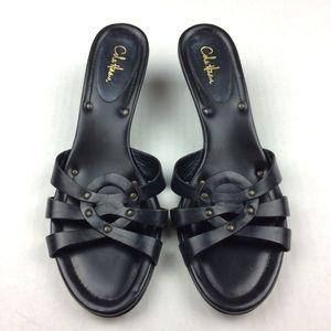 Cole Haan black kitten heel sandals