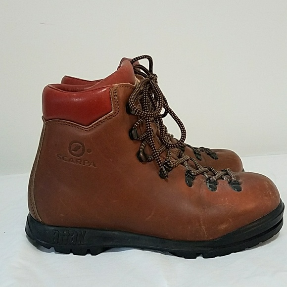 Scarpa Shoes Vintage Hiking Boots Made In Italy Poshmark