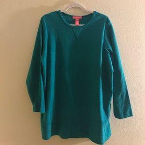 EUC Woman Within Turquoise Sweater Tunic!