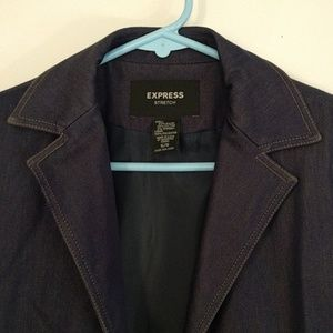 Express Jackets & Coats - Express Chambray Stretch Trench Coat