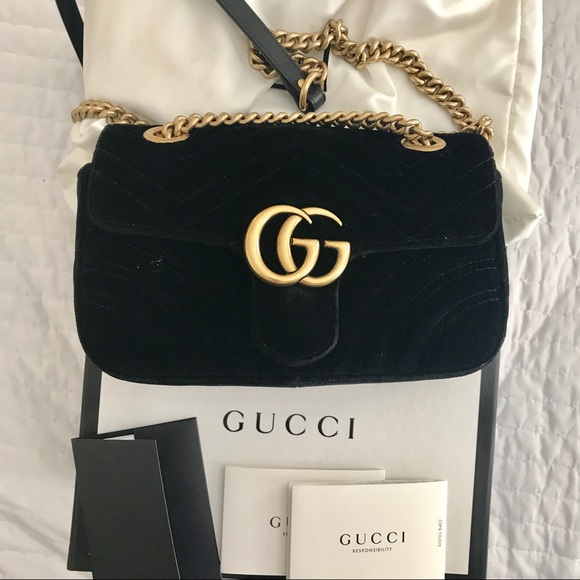 787bf7affa56 Gucci Bags | Authentic Marmont Velvet Chain Shoulder Bag | Poshmark