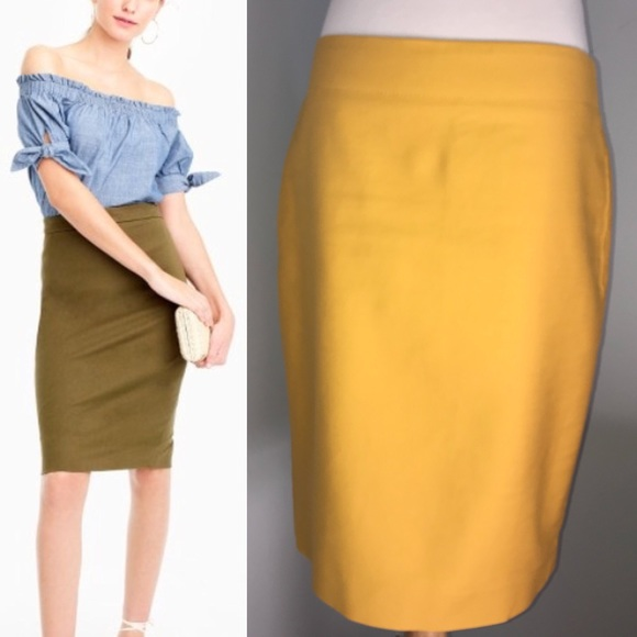 a456d0f5a495 J. Crew Skirts | J Crew No 2 Pencil Skirt Twoway Stretch Cotton ...