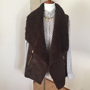 Michael Kors • Brown Sherpa Vest