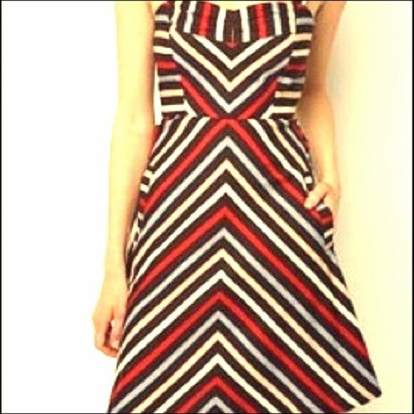 Kimchi Blue Dresses - #Chevron Striped #FitNFlare #SkaterDress