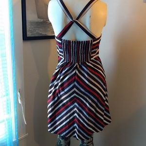 #Chevron Striped #FitNFlare #SkaterDress